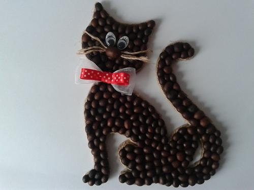 Котенок из кофе своими руками