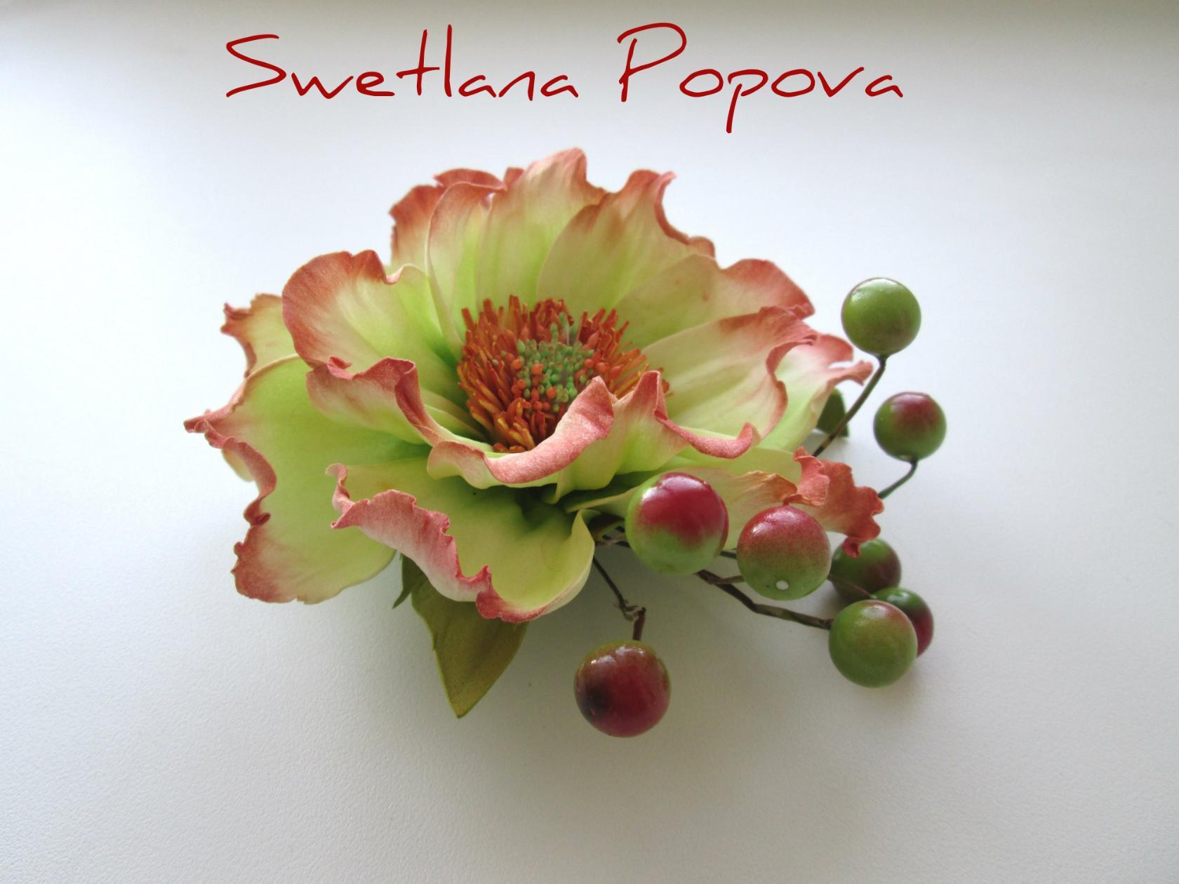 Цветы из фоамирана светланы поповой мастер класс