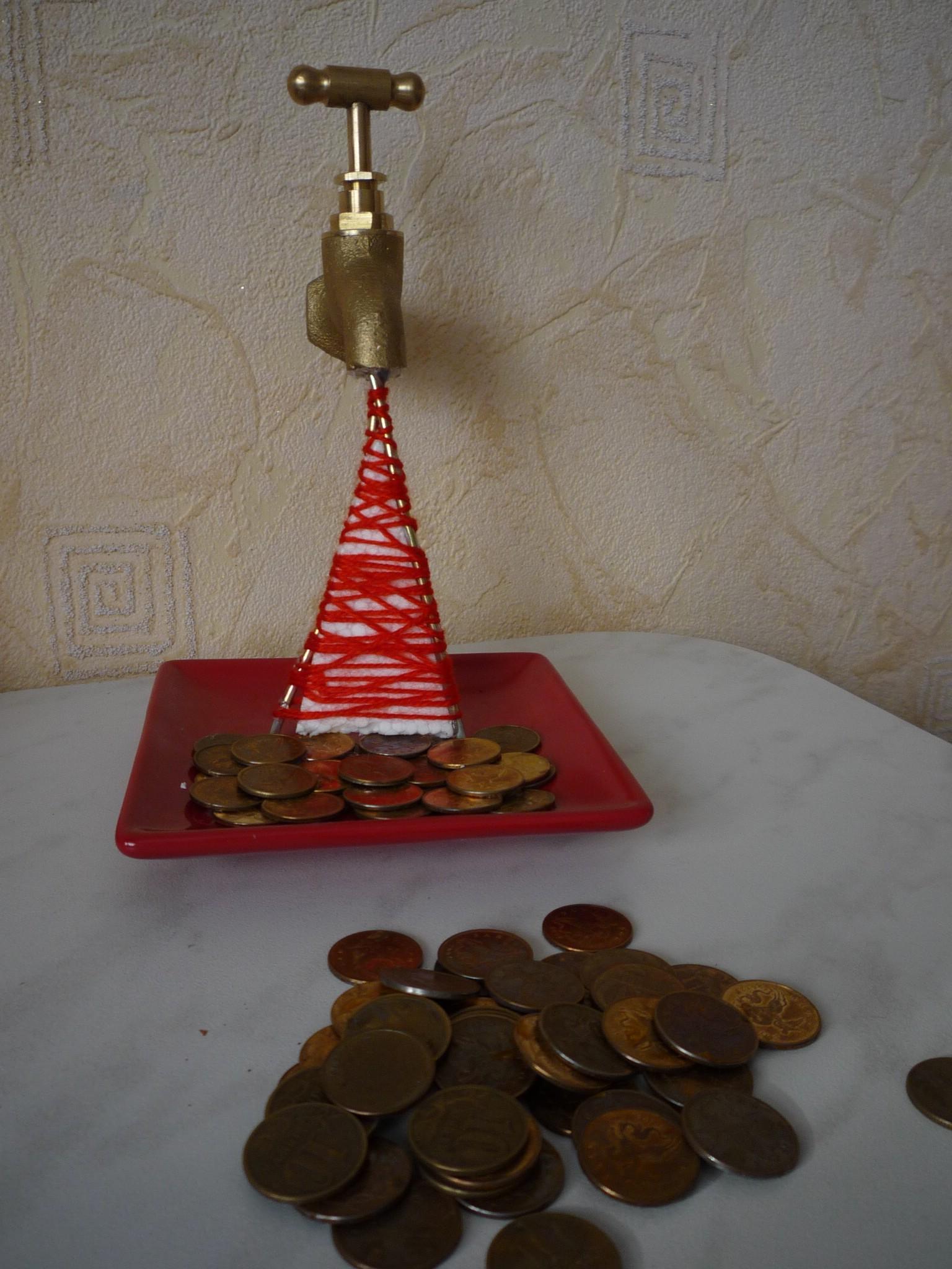 Денежный кран из монет своими руками 88