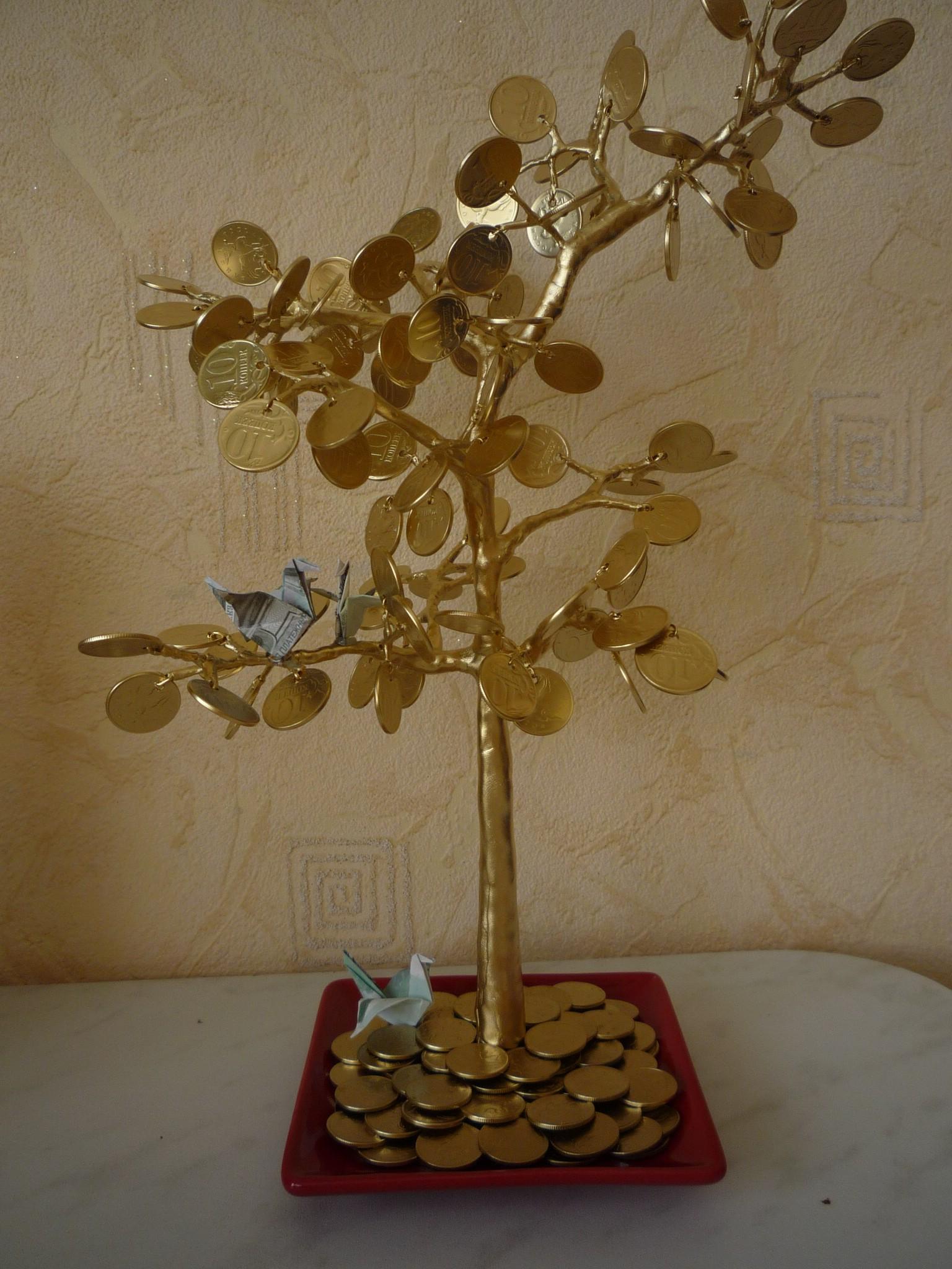 Денежное дерево своими руками из монет мастер