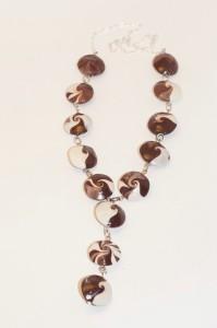 Колье из полимерной глины Шоколадный микс 750 руб