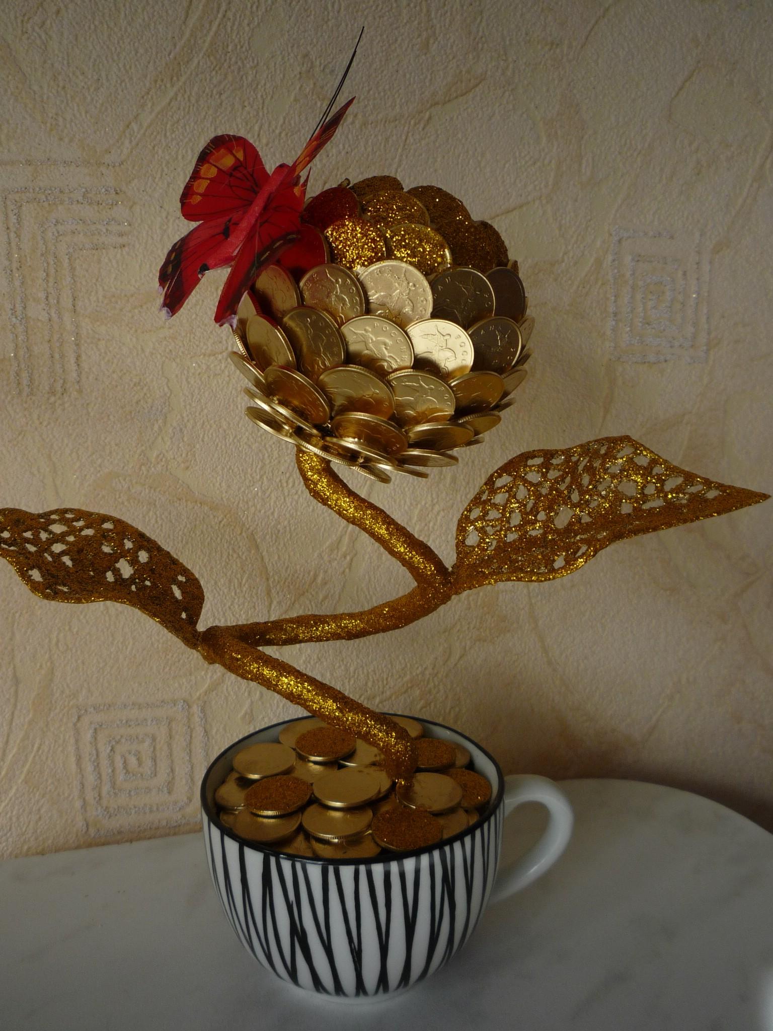 Поделки из монет мастер класс с пошаговым фото