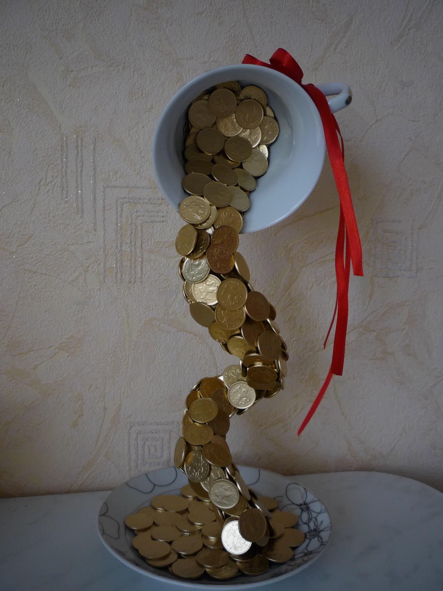 Чашка из монет своими руками