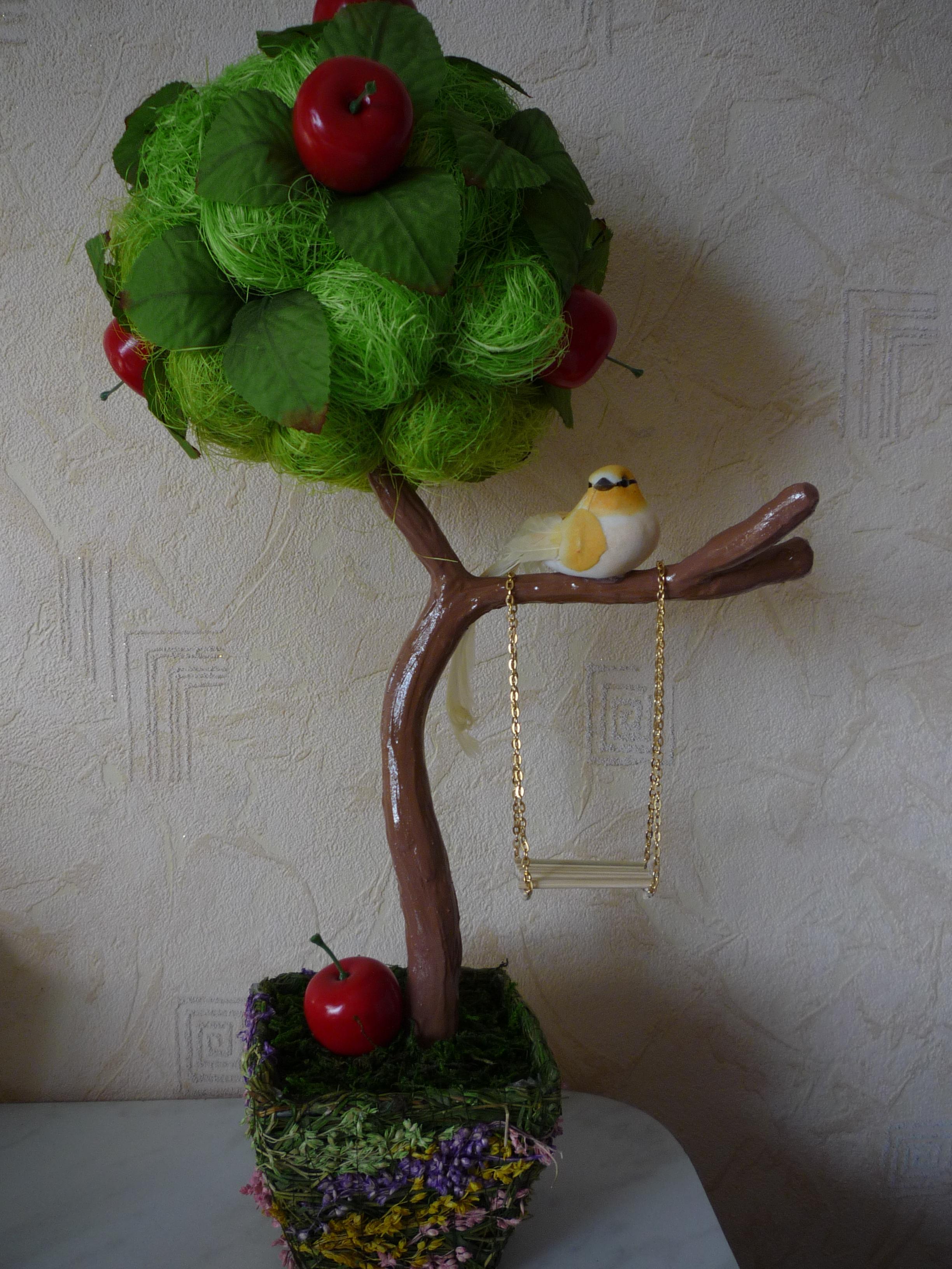 Топиарий с фруктами своими руками для начинающих фото 326