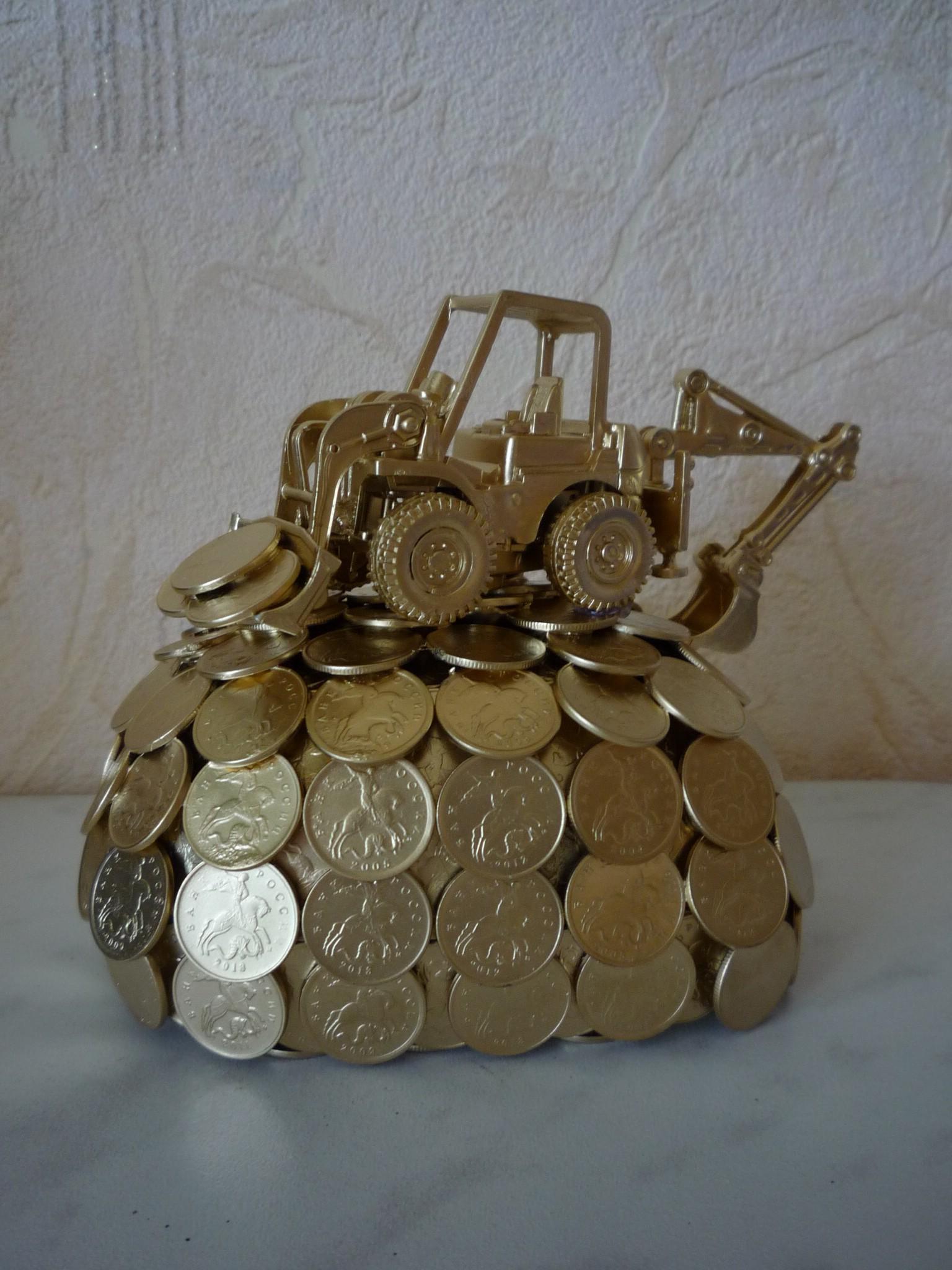 Подарок из монет своими руками из монет