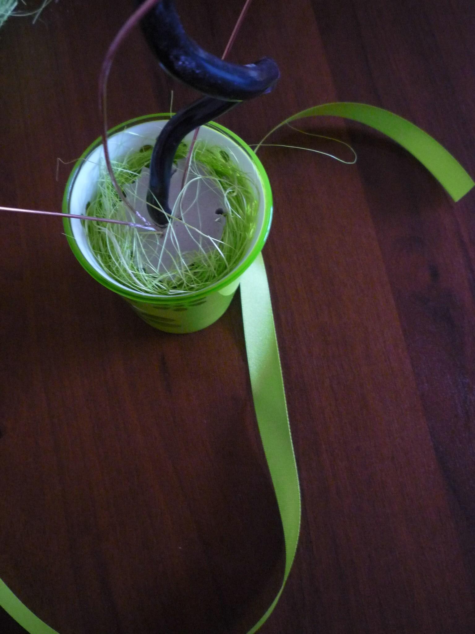 Топиарий из сизаля и купюр - цветы-кусудама
