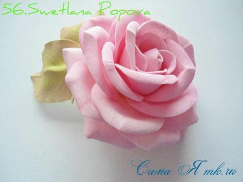 роза из фоамирана 1 (Copy)