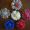 цветы из шпагата и пряжи
