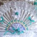 веер из пластиковых одноразовых вилок