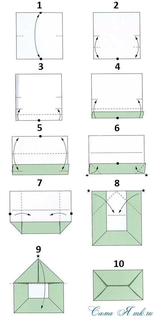 Как сделать конверт из а3 без клея