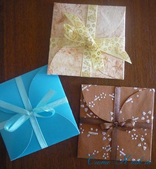 Как делать конверты для денег своими руками
