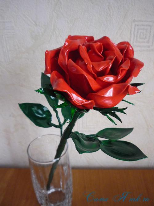 цветок-из-пластиковых-ложек