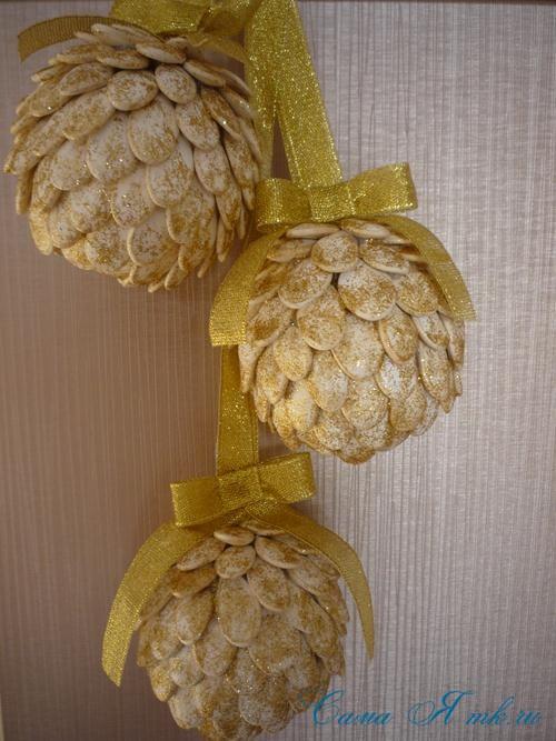 шары из тыквенных семечек