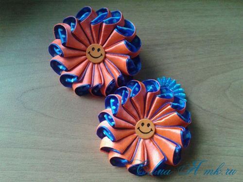 Цветы из атласной ленты 2 5 см своими руками