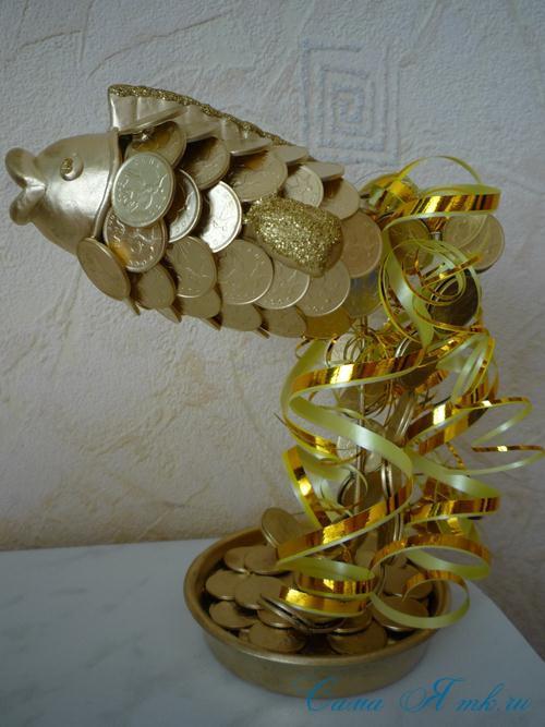 Золотая рыбка своими руками