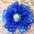 цветок синий из лент