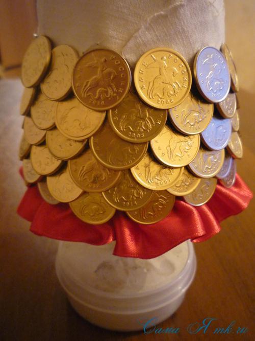 ёлка из монет