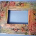 декупаж деревянной рамки для фото 15
