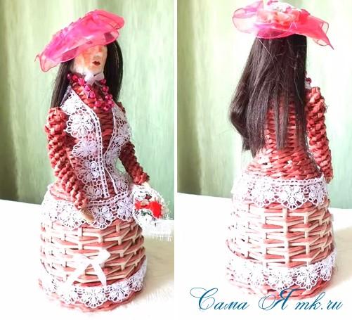 плетение из бумаги кукла