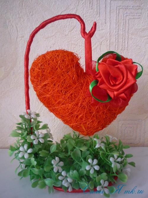 серце из волокна сизаля