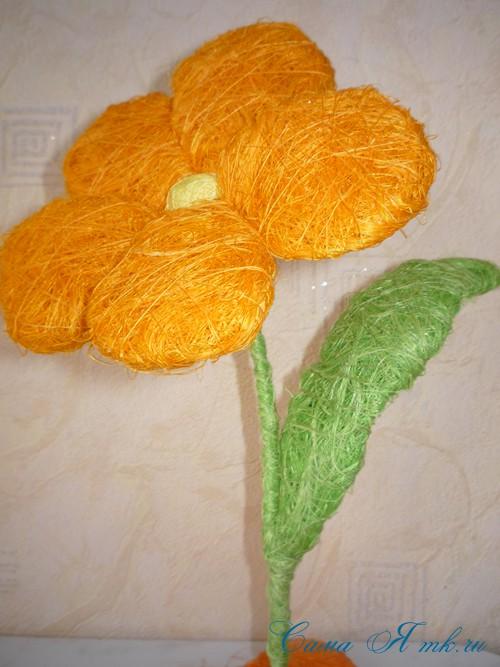цветы из сизаля