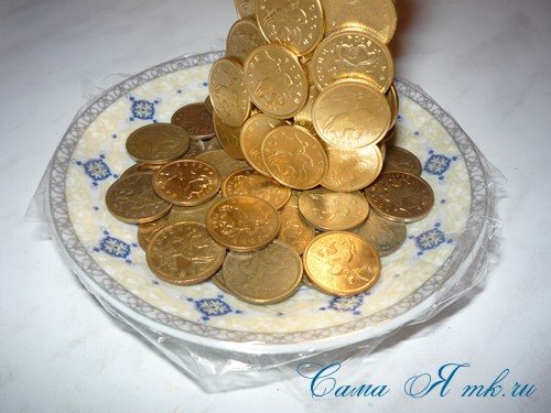 как окрасить монетки