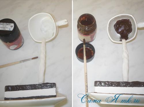 чашка проливашка с кофе и тортиком 17