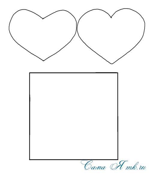 шаблон открытки валентинки детский мк (Copy)