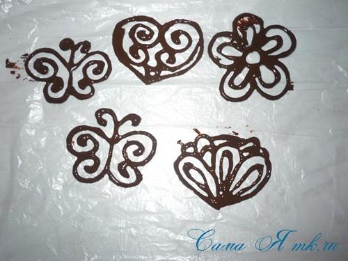 шоколадные украшения для поделок из зерен кофе (кофейных сувениров) 15