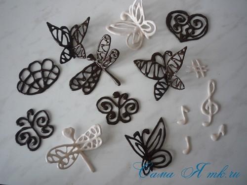 шоколадные украшения для поделок из зерен кофе (кофейных сувениров) 18