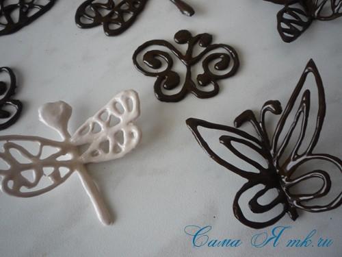 шоколадные украшения для поделок из зерен кофе (кофейных сувениров) 20