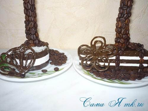 шоколадные украшения для поделок из зерен кофе (кофейных сувениров) 24
