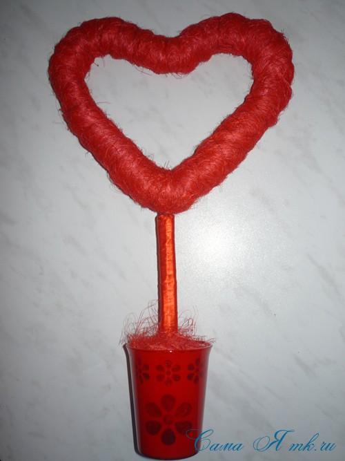сердце из сизаля 2