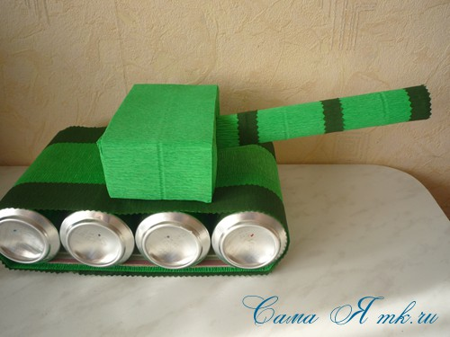 Купить Танк из пива - тёмно-зелёный, танк из пива, танк