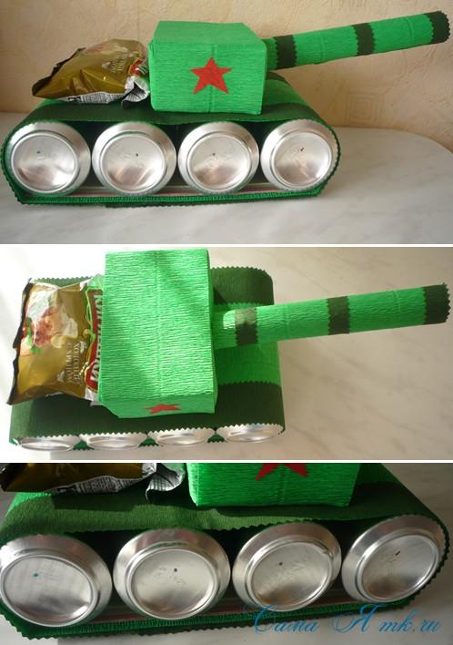танк из баночек пива