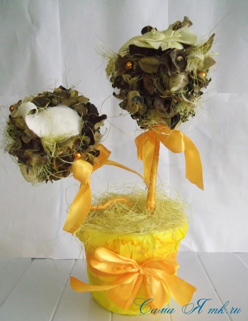 ароматический топиарий из сухоцветов и саше 3