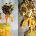 ароматический топиарий из сухоцветов и саше 1