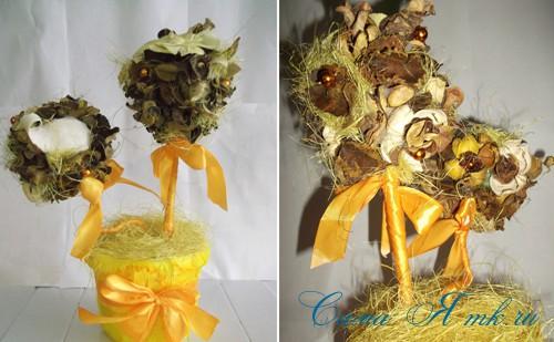 ароматический топиарий из сухоцветов и саше 2