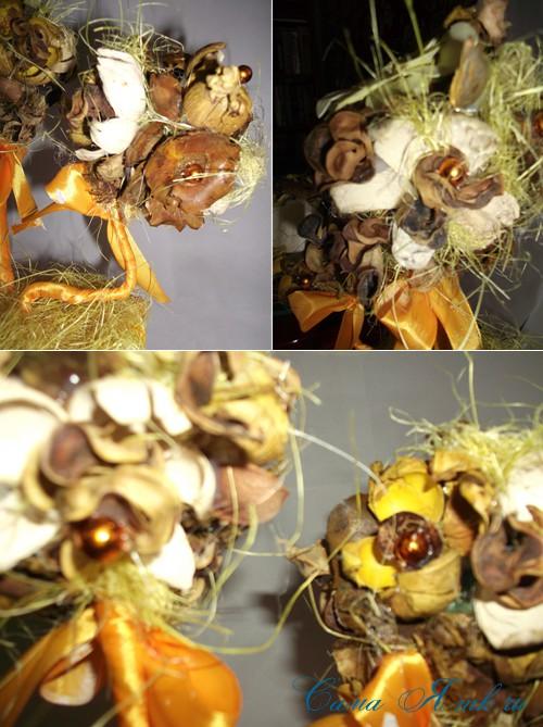 ароматический топиарий из сухоцветов и саше 4