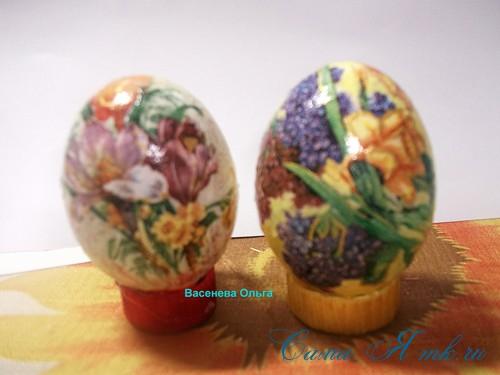 Декупаж пасхальных яиц 7