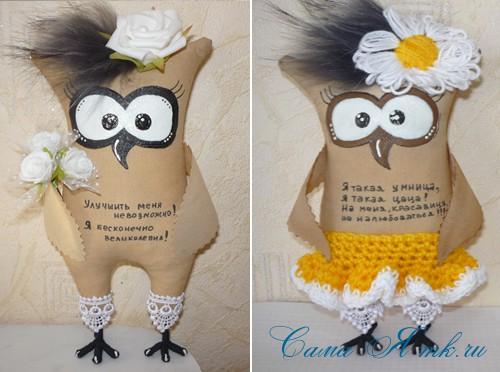 Кофейная игрушка сова своими руками 23