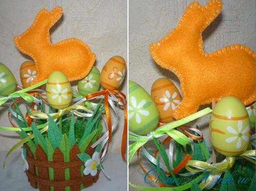 сувенир к Пасхе пасхальный кролик