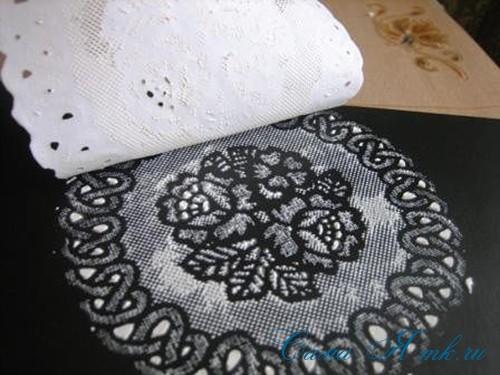 имитация кружевной салфетки на поверхности 12 (Copy)