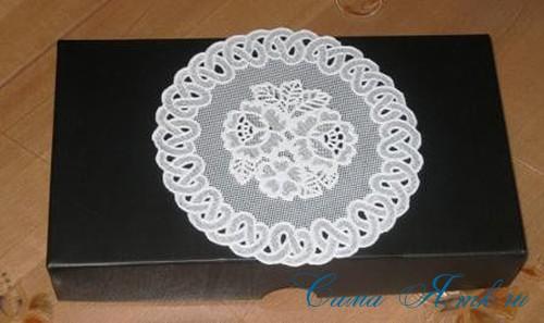 имитация кружевной салфетки на поверхности 6 (Copy)
