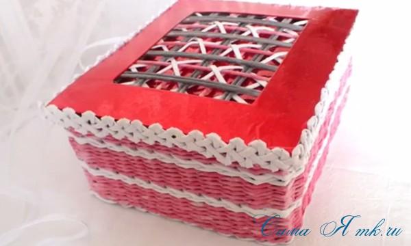 плетение шкатулка из бумаги 3 (Copy)