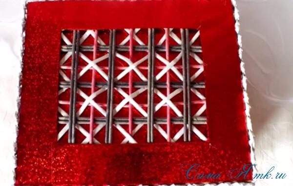 плетение шкатулка из бумаги 4 (Copy)