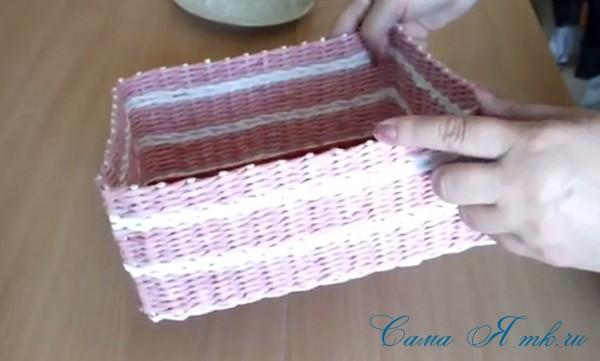 плетение шкатулка из бумаги (Copy)