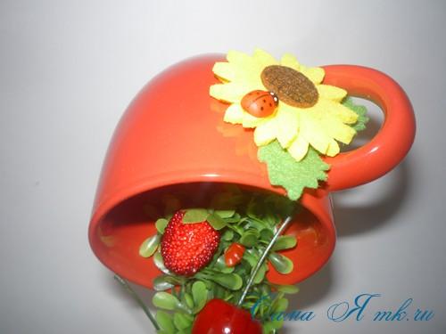 фруктово ягодная чашка кружка проливашка 15