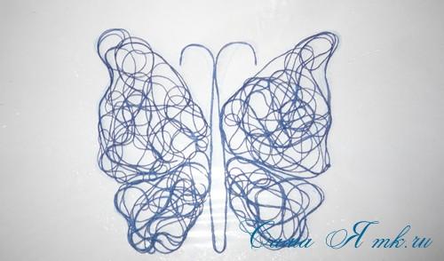 ажурная бабочка из ниток и пряжи  12