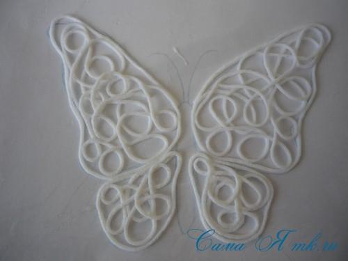 ажурная бабочка из ниток и пряжи  17
